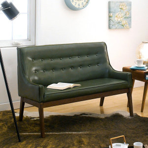 (아리아퍼니처 (ARIA FURNITURE) ) Nima-Green 2-Seater Sofa 가죽소파