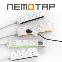 네모탭 4구 5구 개별전원 USB 멀티탭 멀티콘센트