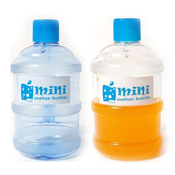 특집세일/미니 생수통 물병 650ml 블루/화이트 약수통