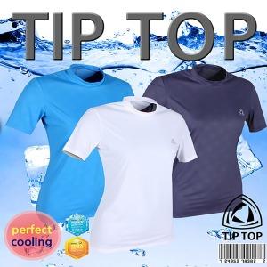 쿨티 냉감티셔츠 UV항균항습완벽차단(여성반팔)화이트