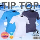 쿨티 냉감티셔츠 UV항균항습완벽차단(여성반팔)네이비