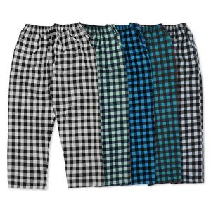 남자 선염파자마 잠옷바지 체크9부 시원한 홈웨어 포켓