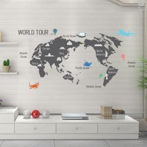인테리어 포인트스티커 벽지 IP511-월드투어