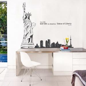 인테리어 포인트스티커 벽지 IP512-자유의여신상