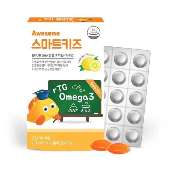 오메가3+비타민D  어썸스마트키즈 오메가3 젤리타입