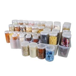 실리쿡 냉장고수납용기 원형특더블세트 (총 44개)