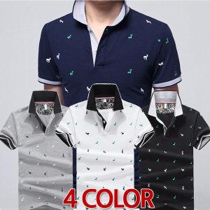 남성 DEER POLO 카라 반팔 티셔츠 여름 기획특가 상퓸