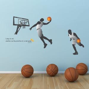 인테리어 포인트스티커 벽지IP547-위아더챔피언(농구)
