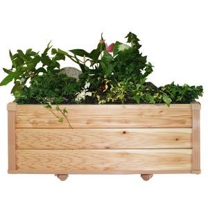 DIY 실내이동식 원목 화분 대형 와이드 3단 작은정원