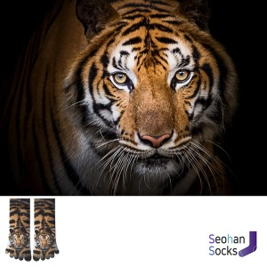 호랑이가 프린트된 단목 발가락 양말 1족