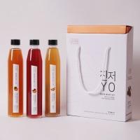 진저YO 3종 선물세트 청귤청/오미자청/생강청