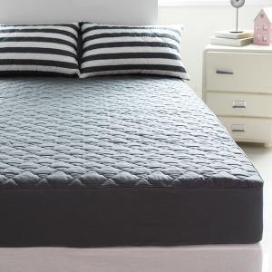순면 누빔 침대 매트리스커버 퀸 Q 150200