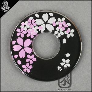 검도용품/코등이/일제화장 이중벚꽃코등이(핑크+은색)