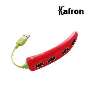 칼론 USB허브 SP-506L 고추 캐릭터 4포트 무전원