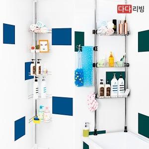 기둥식 욕조위 욕실 선반 코너 일자 3단 4단 5단