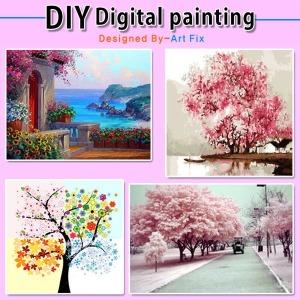 학교납품업체 DIY명화그리기 유화 그림 벽장식 수채화