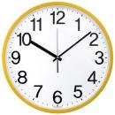 심플넘버 36cm 무소음벽시계 옐로우 빅사이즈 대형시계