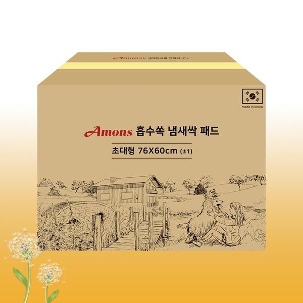 국산 흡수쏙냄새싹 대형패드 100매 강아지/애견/배변