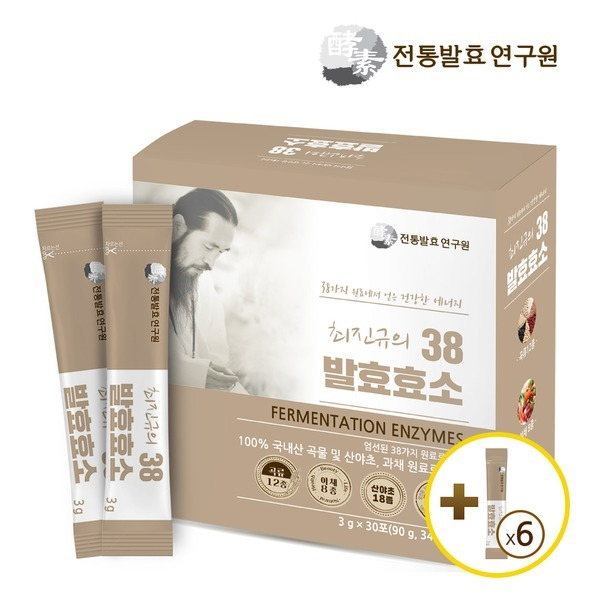 [웰빙플래너] 효소6포 추가증정 최진규의 38발효효소 1박스