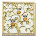 인테리어 부조 장식 벽걸이 그림 액자 부엉이나무(대)
