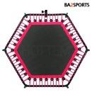 바투정품 점핑알파고-핑크 6각 트램폴린 성인다이어트