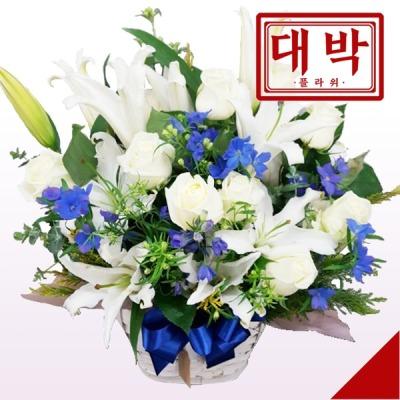 장미백합 꽃바구니 생일 기념일 출산 병문안 꽃배달