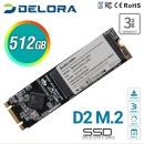 델로라 M.2 2280 SSD 512GB A/S 3년