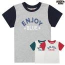 인디고키즈 컬러 배색티셔츠