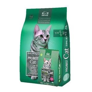 프로베스트캣 2kg 고양이사료 헤어볼 고양이캔