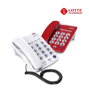 삼우 빅버튼 스탠드유선전화기 단축 LSP-285 화이트