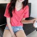레시피 슬라브 브이넥 티셔츠