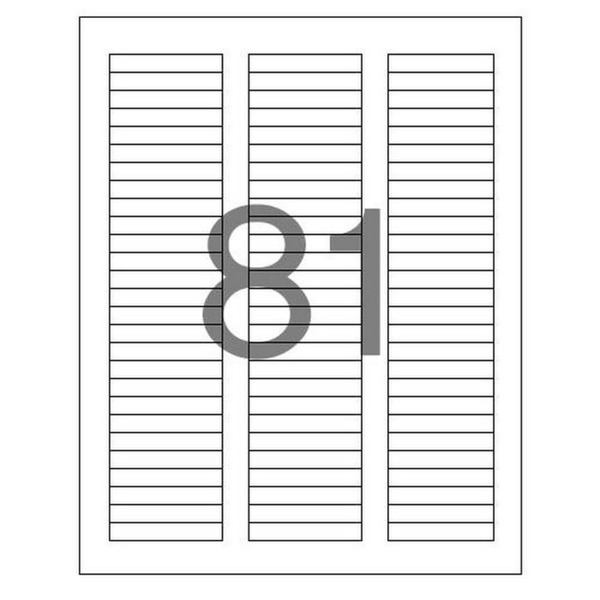 분류표기용 라벨(LS-3181/100매/81칸/폼텍)