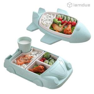 유아 아기 자동차 비행기 식판 식기 그릇 세트 친환경