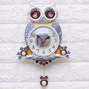 인테리어벽시계 윙클부엉이-실버/무소음 벽걸이시계