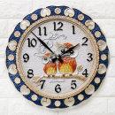 인테리어 벽시계 블루부엉이(대)/무소음시계 결혼선물
