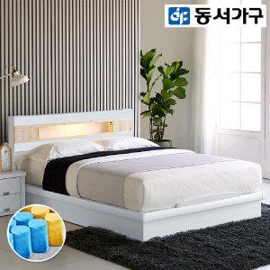 (현대Hmall)동서가구 세렌 편백선반 LED Q침대(9존독립) DF909496