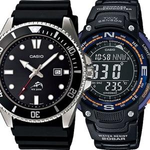 카시오 전자손목시계 남성여성방수 다이버 MDV-106-1A