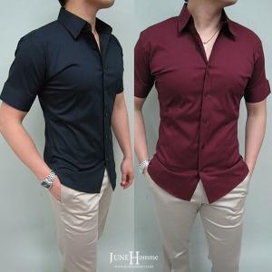 슬림핏 면스판셔츠 다양한컬러/남자셔츠 반팔셔츠
