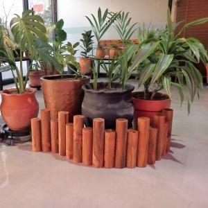원목 통나무 화분 울타리 (목봉) 95x26cm (대)