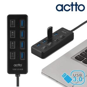 USB 3.0 스위치 허브 멀티 확장 커넥터 HUB-33 블랙