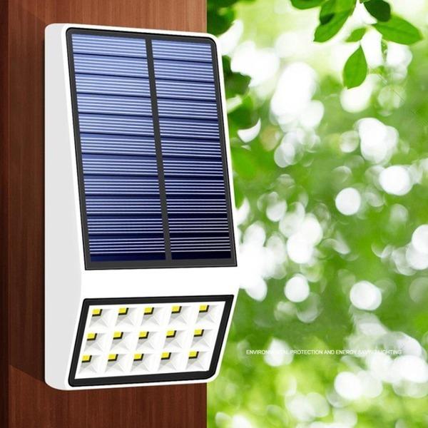 태양광 15LED 벽등 센서등 태양열 정원등 가로등 조명