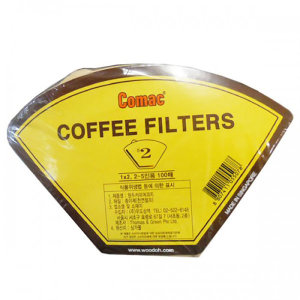 (COMAC)커피여과지 2인-5인용 100매 종이커피필터