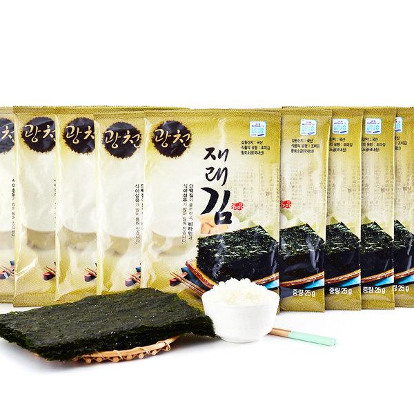 거해 광천 전장김 25gX10봉 황토소금