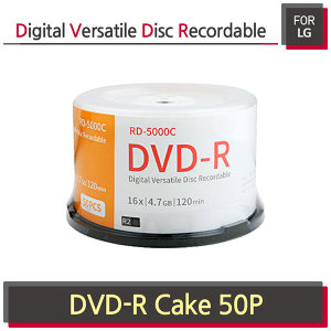 For LG  DVD-R 4.7GB / 120MIN 16배속 50장