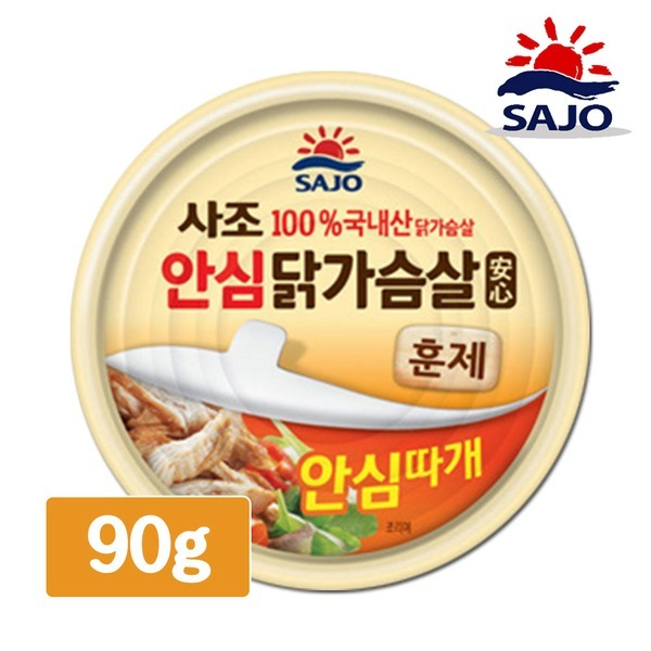 사조 훈제 닭가슴살 90g 샐러드 통조림 캔