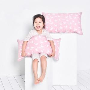 솔루나 아기베개 여름 인견 핑크스완 30X70cm