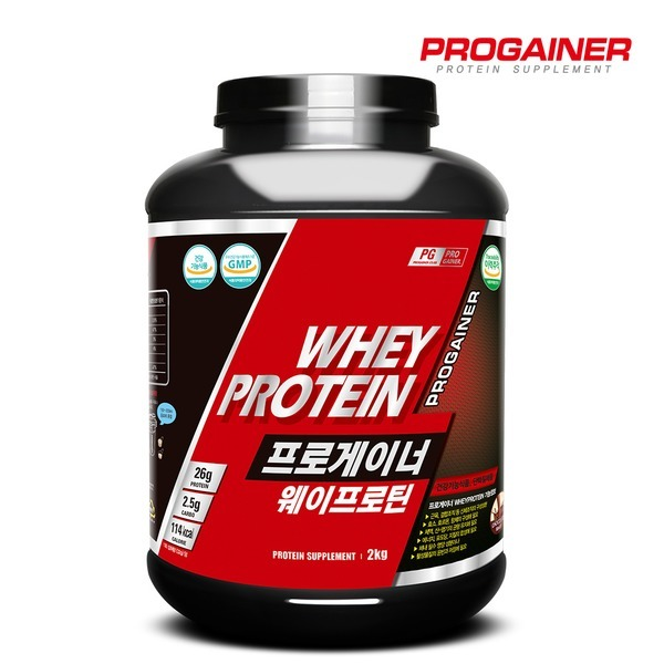 프로게이너 웨이프로틴 2kg_초코 / 근육발달 보충제