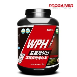 프로게이너 WPH 2kg_초코 / 단백질 보충제 / 근육발달