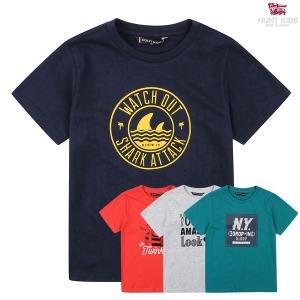 헌트키즈 그래픽 컬러티셔츠