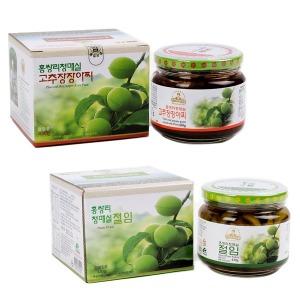 홍쌍리 무농약 매실 고추장장아찌430g+매실절임 430g